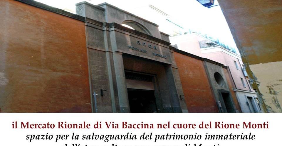 il Mercato Rionale di Via Baccina nel cuore del Rione Monti